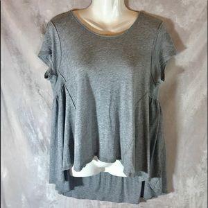 Free People Grey Cap High-Low Dress/T-Shirt, XS